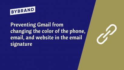 Gmail change link color