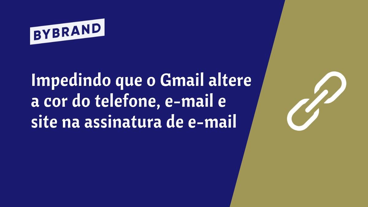 Gmail alterando cor do link
