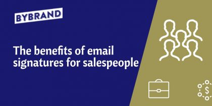 Email signatures for salespeople