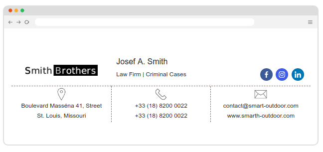 Law firm email signature
