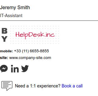Assinatura de e-mail HTML