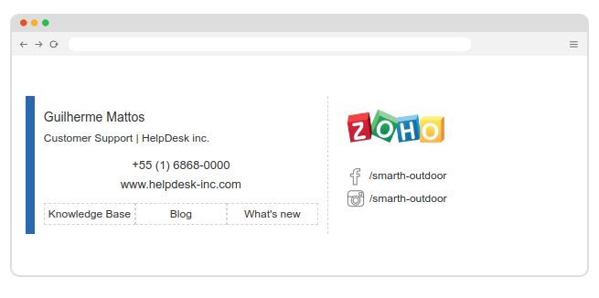 Zoho Desk email signature updated