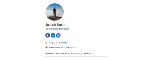 Email signature for mobile devices