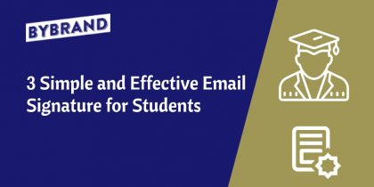 email signature for students