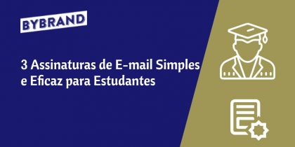 Modelos de assinatura de e-mail para estudante