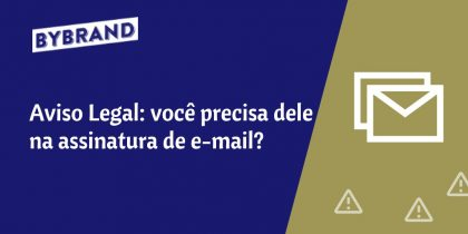 Aviso legal na assinatura de e-mail