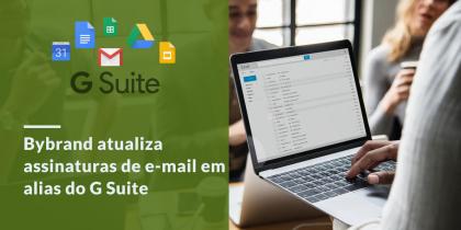 G Suite atualização de assinaturas de e-mail em Alias