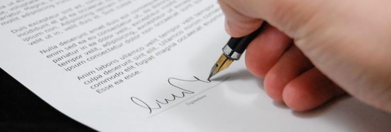 Aviso legal na assinatura
