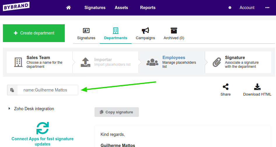 load employee email signature faster
