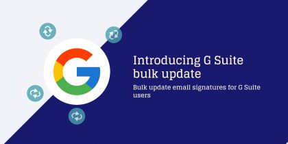 Introducing G Suite bulk update