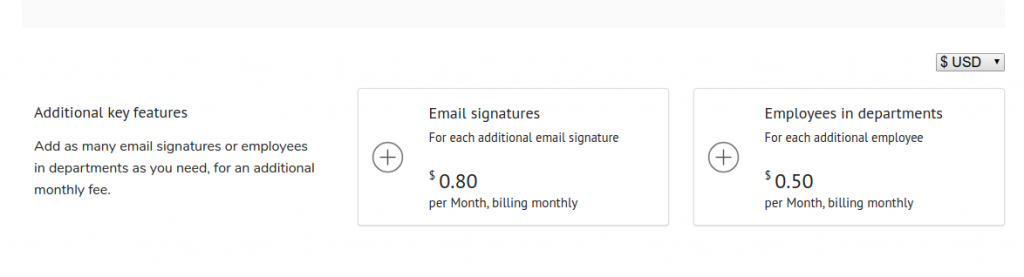 additional signatures prices