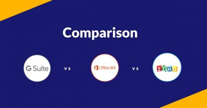 Comparison G Suite, Office 365 and Zoho Workplace