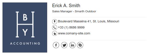 Modelo de assinatura de e-mail