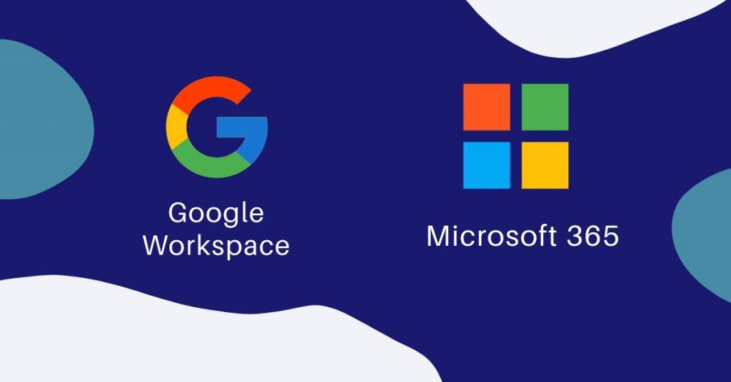 Google Workspace e Microsoft 365 pequena descrição