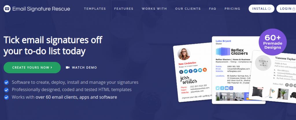 Email Signature Recue site