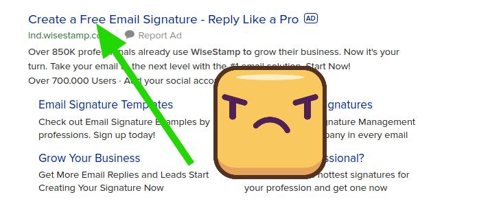 WiseStamp old-school marketing trick.