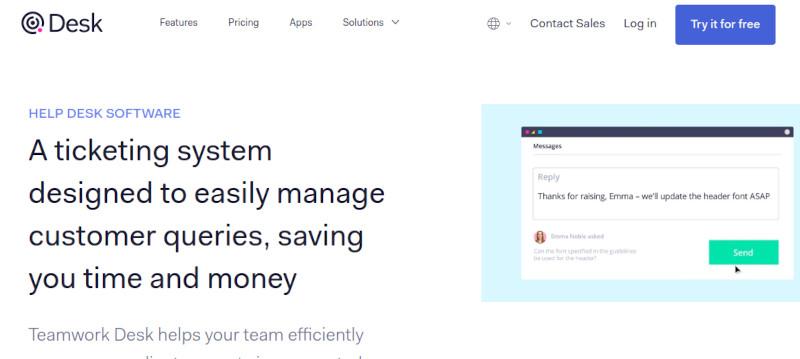 Teamwork Desk website