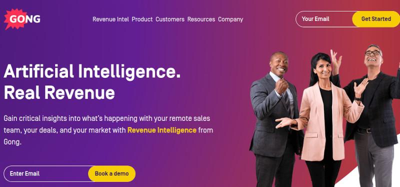 Gong Sales Intelligence website