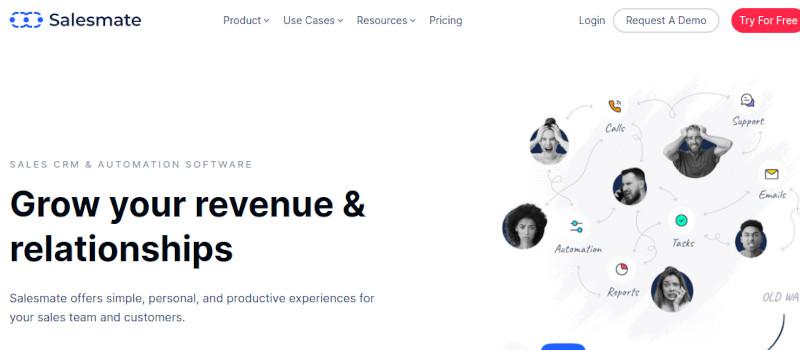 Salesmate website