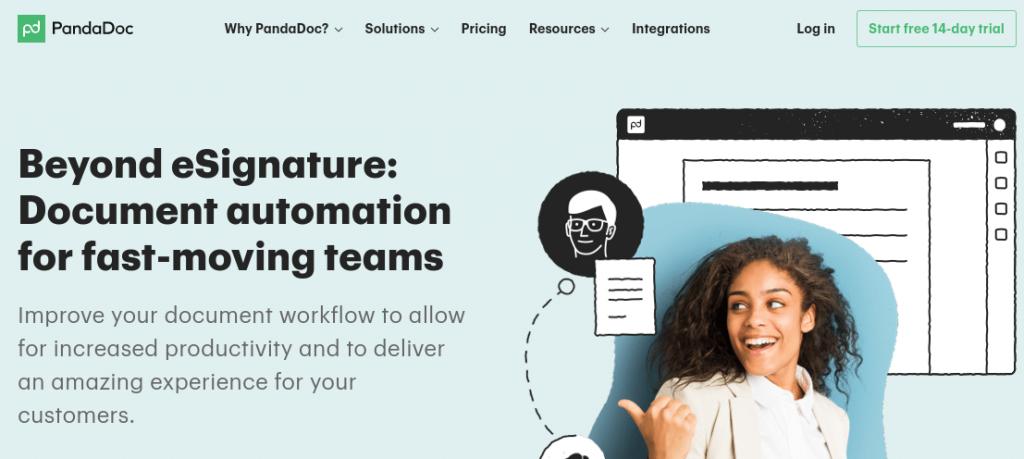 PandaDoc homepage