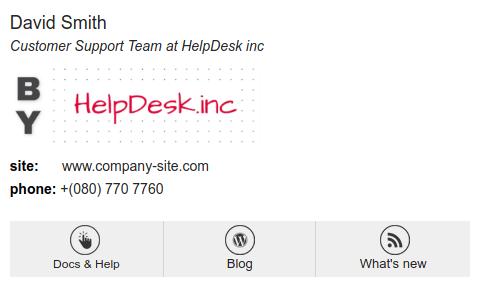 Template de assinatura para helpdesk