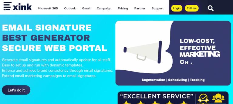 Xink Signatures website