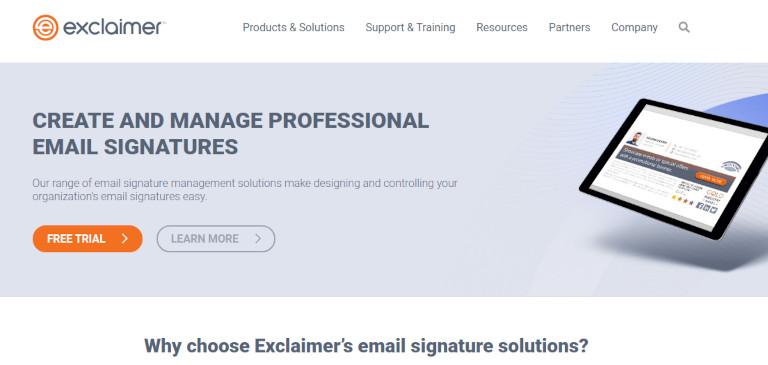 Exclaimer website
