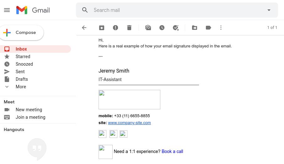 Assinatura de email em HTML