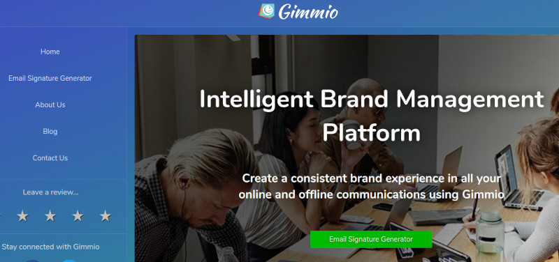 Gimmio website