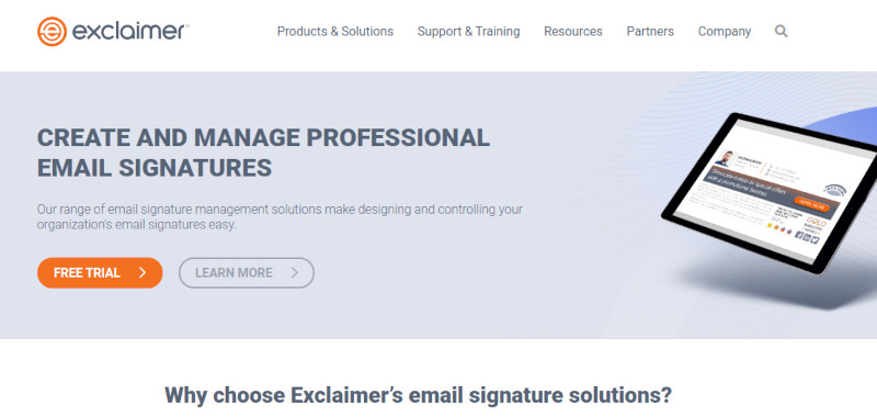 Exclaimer site