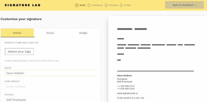 SignatureLab site