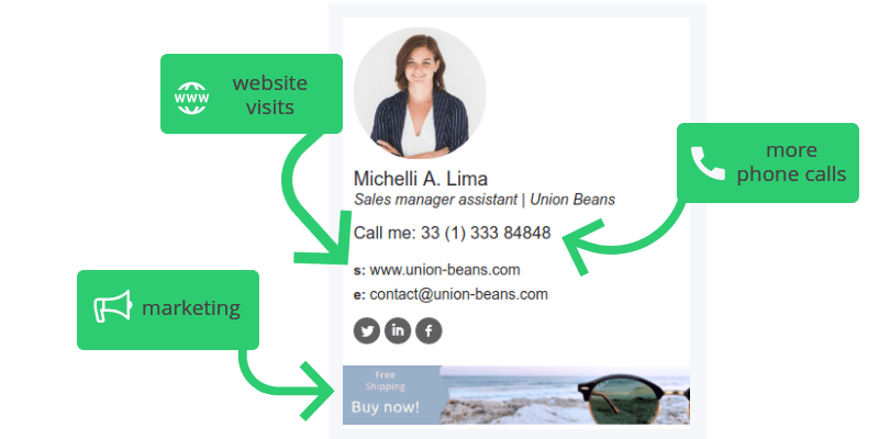 Sales email signature example