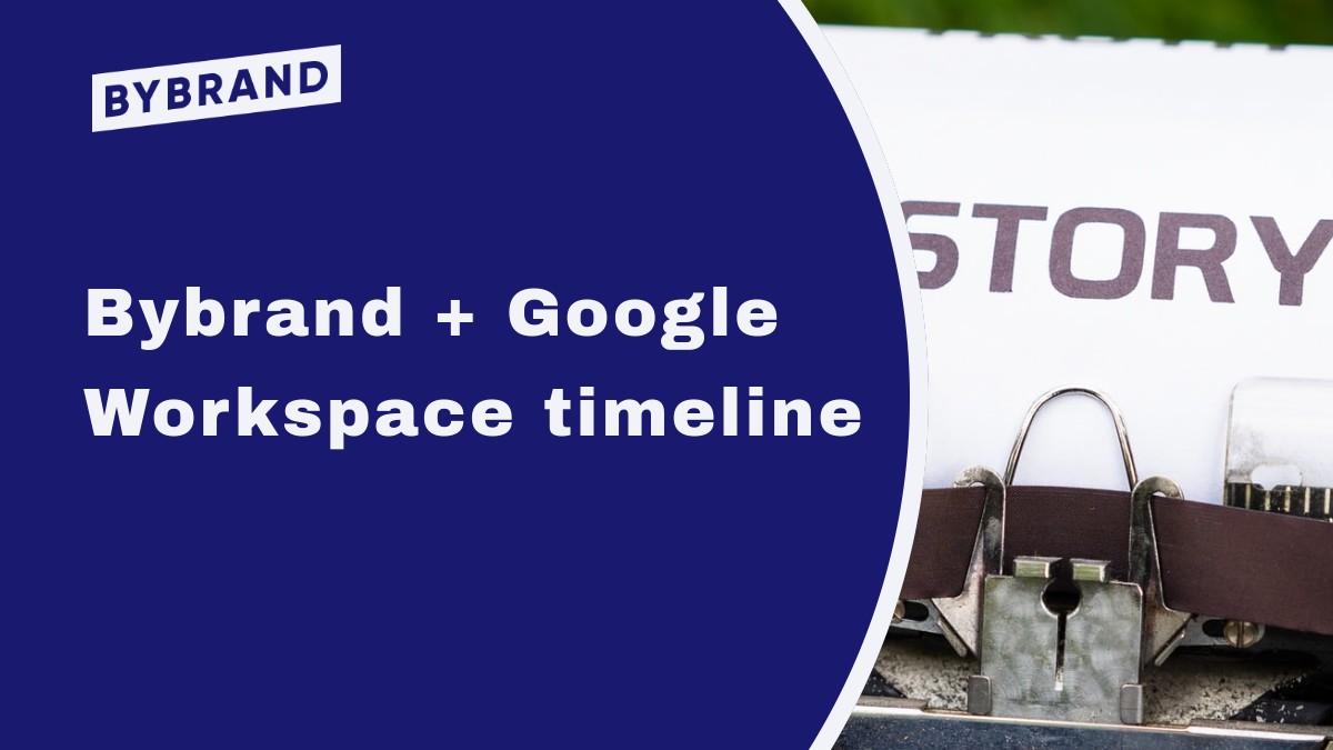 Google Workspace timeline