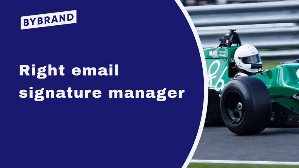 Right email signature manager