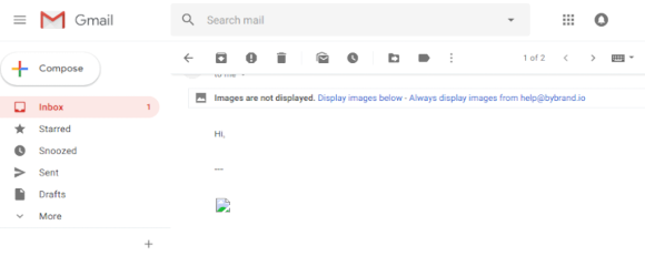 Example of image-only email signature