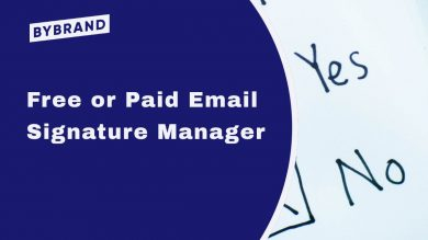 Email signature manager