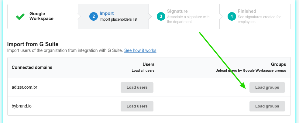 Import fromGoogle Workspace groups