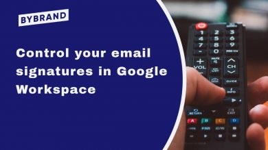 Control of email signatures in Google Workspace