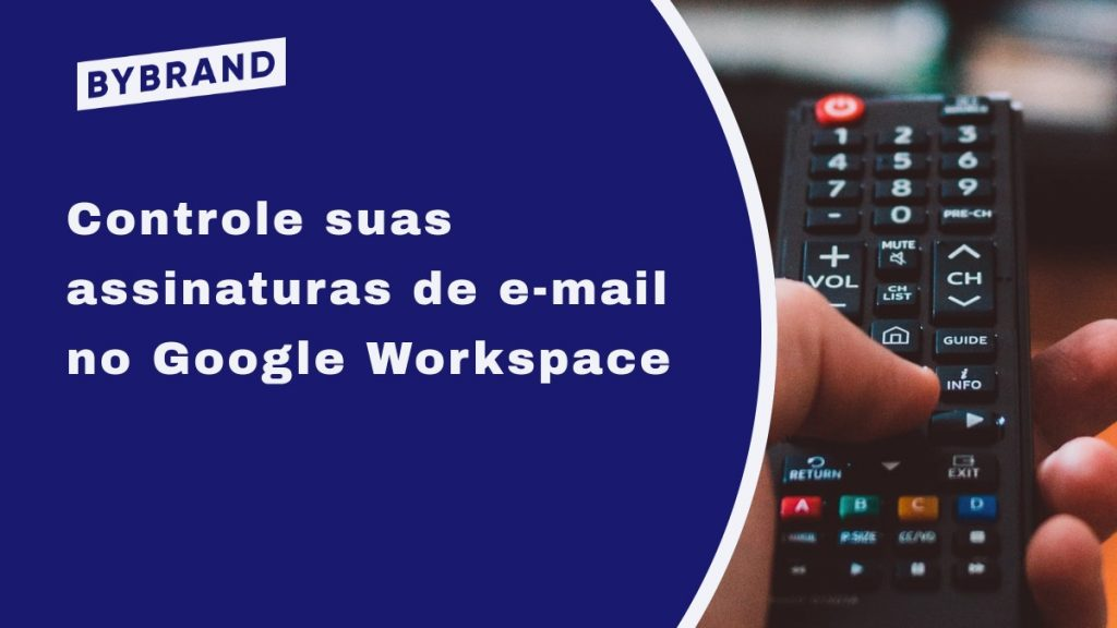 Controle de assinaturas de e-mail no Google Workspace