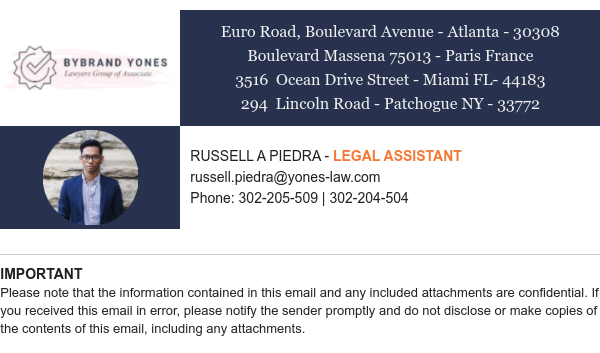 Email signature template for law firm