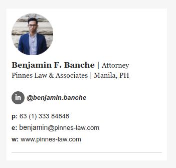 Attorney email signature
