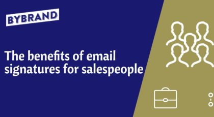 Email signature sales people