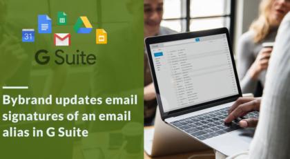 Update email signature in alias address for G Suite