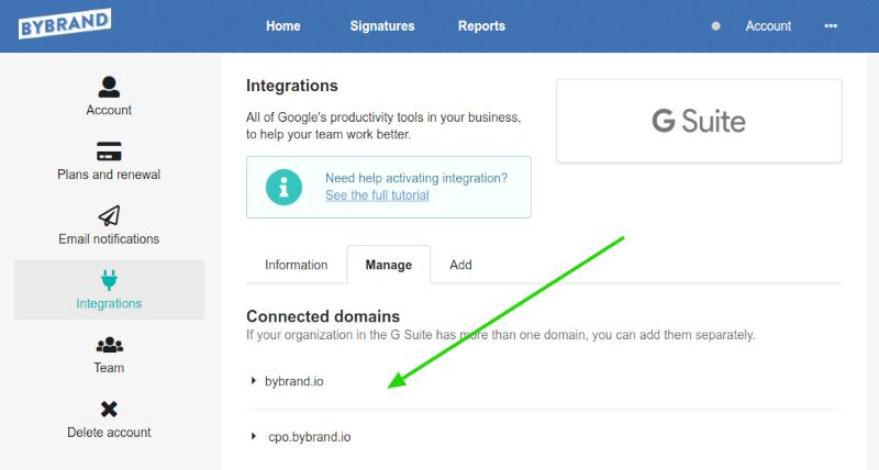 G Suite integração múltiplos domínios.