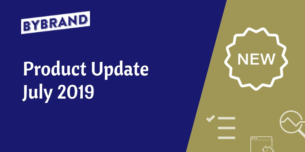 Product Update July 2019