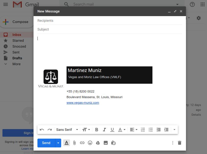 Advogado escrevendo nova mensagem de e-mail