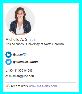 Primeiro modelo de assinatura de email