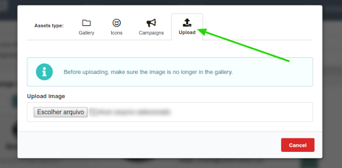 How to upload your own image