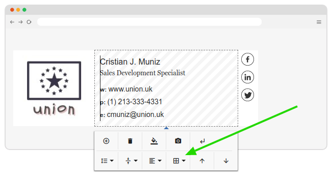 Working with borders in email signature