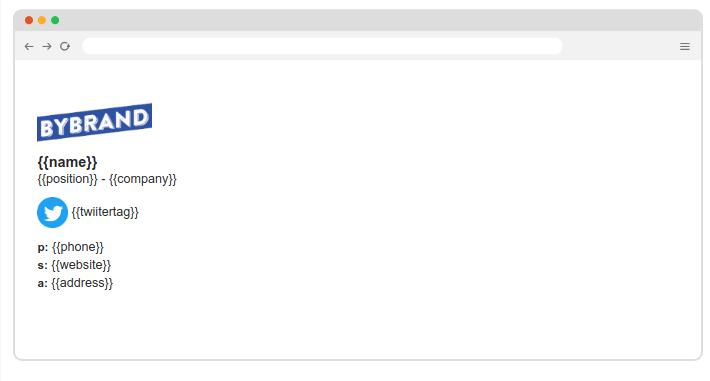 Assinatura de email de departamento